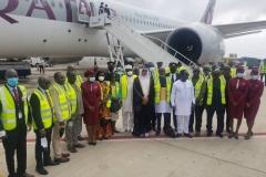 Arrival of Passenger Aircraft by Qatar Airways at the Kotoka International Airport
